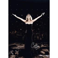 Celine Dion Signed Poster