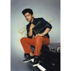 Bruno Mars Autographed Photo