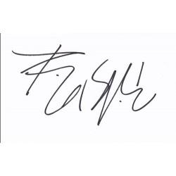 Billy Idol Autograph...