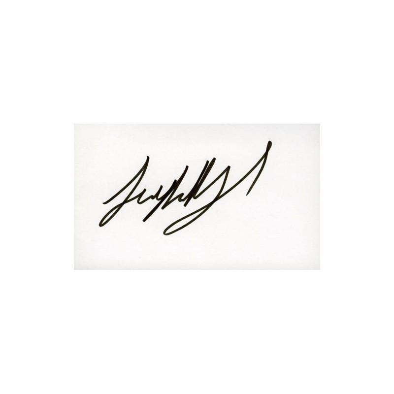 Jon Abrahams  Autograph Signature Card